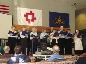 Die Dolpehock Sanger Chor am singe.