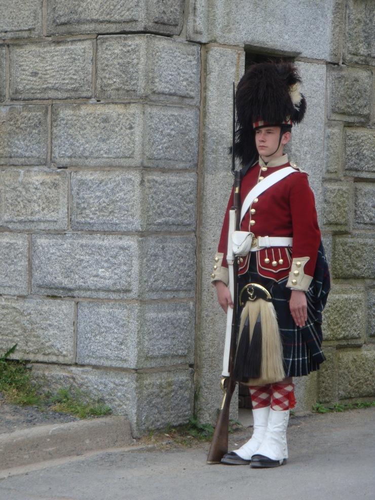 En Soldaat bei der Citadel in Halifax.