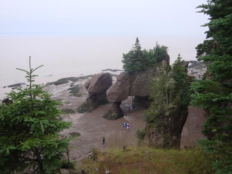Hopewell Rocks - die sin die Blummeheffe Felse.