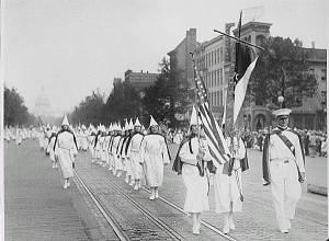 Die Ku Klux Klan in Waschington DC.