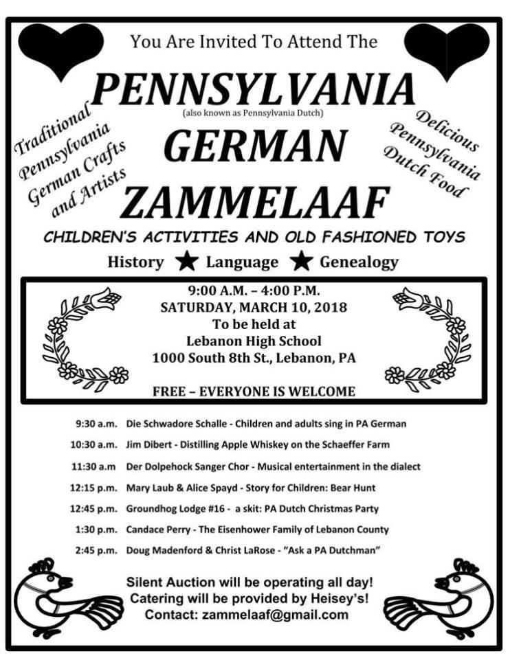2018 Zammelaaf Flyer