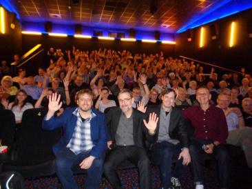Hiwwe wie Driwwe im kinosaal mit zusätzlich Sprachwissenchaftler Michael Werner